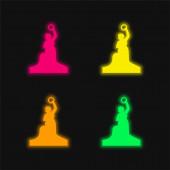 Bayern Statue vierfarbig leuchtendes Neon-Vektorsymbol
