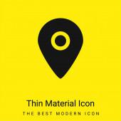 Fekete Helytartó Térképek minimális fényes sárga anyag ikon