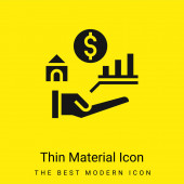 Előnyök minimális fényes sárga anyag ikon