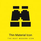 Ferngläser minimal leuchtend gelbes Material Symbol