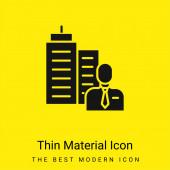 Boss minimális fényes sárga anyag ikon