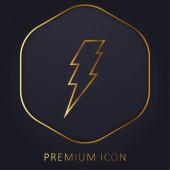Šroub zlaté čáry prémie logo nebo ikona