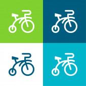 Kolo Byt čtyři barvy minimální ikona nastavena
