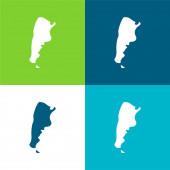 Argentina Flat four color minimal icon set