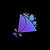 Ikona vektoru modrého přechodu kytice