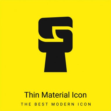 Black Power minimal bright yellow material icon stock vector