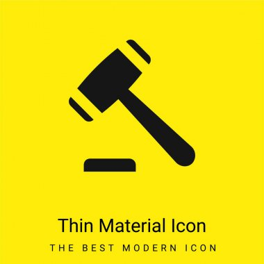 Auction minimal bright yellow material icon stock vector