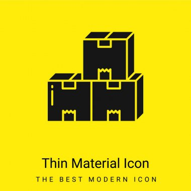 Boxes minimal bright yellow material icon stock vector
