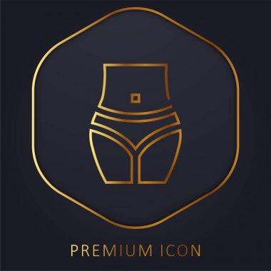 Body golden line premium logo or icon stock vector