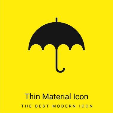 Black Umbrella minimal bright yellow material icon stock vector