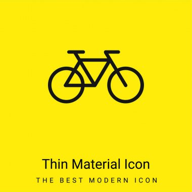 Bicycle Healthy Transport minimal bright yellow material icon