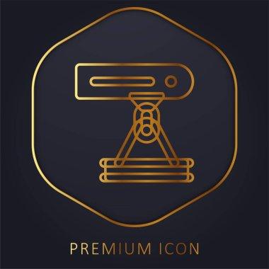 Beam golden line premium logo or icon stock vector