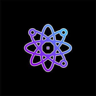 Atom blue gradient vector icon stock vector