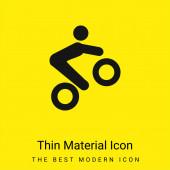 Bike triky minimální jasně žlutý materiál ikona