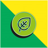 Biológiai zöld és sárga modern 3D vektor ikon logó