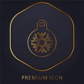 Bauble zlatá čára prémie logo nebo ikona