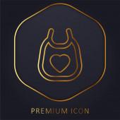 Zlaté prémiové logo nebo ikona Baby Bib