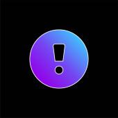 Pozornost Podepsat modrou ikonu přechodu