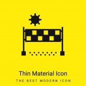 Beach Volejbal minimální jasně žlutý materiál ikona