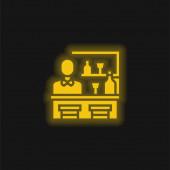 Bár sárga izzó neon ikon