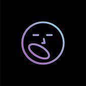 Nudná ikona modrého přechodu
