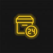 24 óra sárga izzó neon ikon
