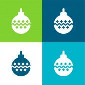 Bauble Flat four color minimal icon set