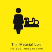 Baby Change minimal leuchtend gelbes Material Symbol