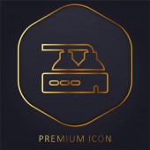 Sörgyár arany vonal prémium logó vagy ikon