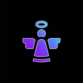 Angel blue gradient vector icon
