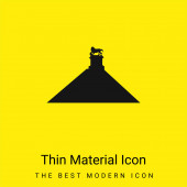 Belgie minimální jasně žlutý materiál ikona