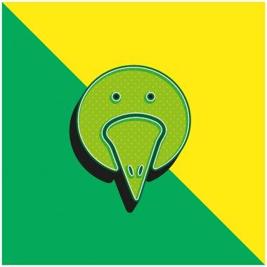 Bird Portrait Green and yellow modern 3d vector icon logo stock vector