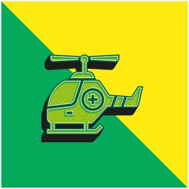 Air Ambulance Green and yellow modern 3d vector icon logo stock vector