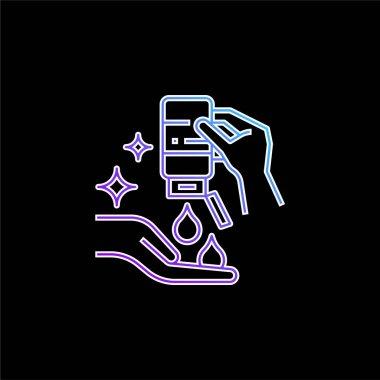Alcohol Gel blue gradient vector icon stock vector