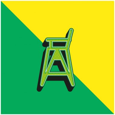 Baby Chair Green and yellow modern 3d vector icon logo stock vector