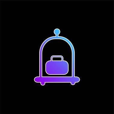 Baggage Cart blue gradient vector icon