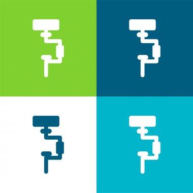 Brace Flat four color minimal icon set stock vector