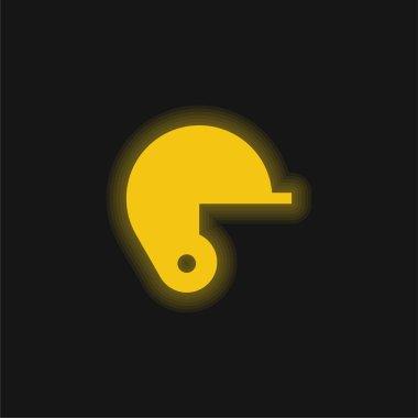 Baseball yellow glowing neon icon stock vector