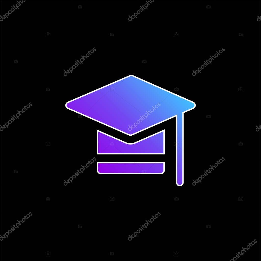 Bachelors Degree blue gradient vector icon stock vector