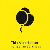 Balónky minimální jasně žlutý materiál ikona