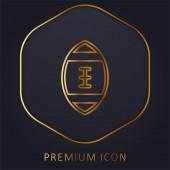 American Football goldene Linie Premium-Logo oder Symbol