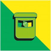 Baby Fruit Food Pot Zöld és sárga modern 3D vektor ikon logó