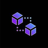 Blokkok kék gradiens vektor ikon