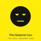 Gelangweilte minimale leuchtend gelbe Materialsymbole