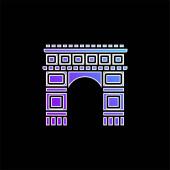 Arc De Triomphe kék gradiens vektor ikon