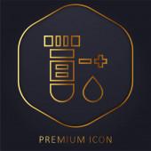 Bluttest goldene Linie Premium-Logo oder Symbol