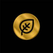 Biológiailag aranyozott fémes ikon vagy logó vektor