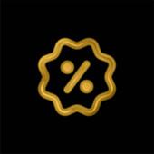 Jelvény aranyozott fém ikon vagy logó vektor