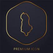 Albania golden line premium logo or icon