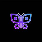 Big Butterfly blue gradient vektorová ikona